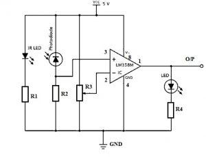 红外传感器电路原理图